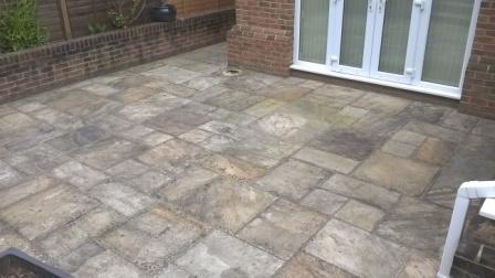 patio cleaning without pressure washer